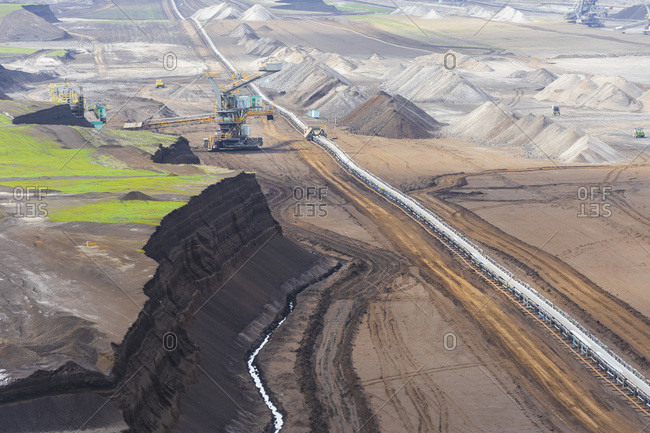 Germany- Saxony- Brown coal mining