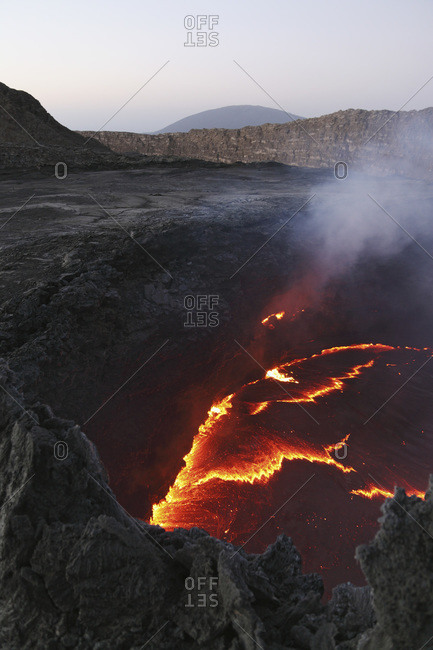 Ethiopia- View of lava at Erta Ale