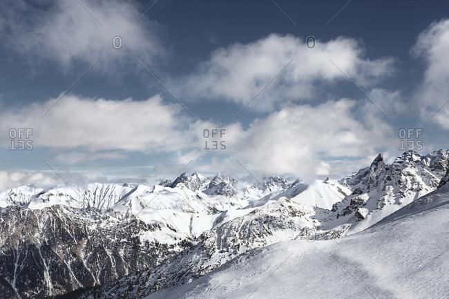 Austria- Vorarlberg- Riezlern- Mountainscape in winter