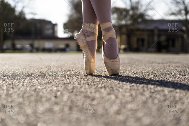 Feet of a Ballerina on tiptoes