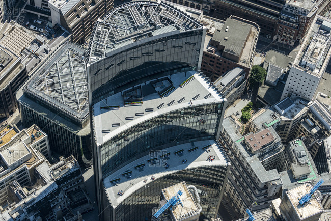 London, United Kingdom - August 1, 2013: Bird's eye view of the Willis Building