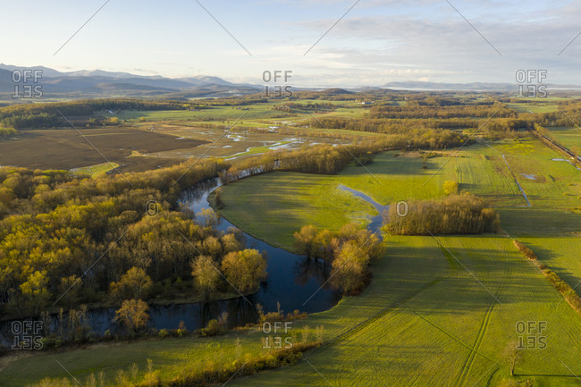 Beautiful view over Otter Creek in Middlebury, Vermont