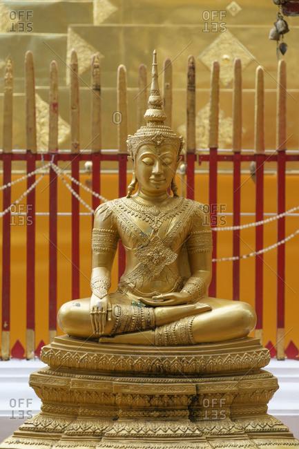 Buddha sculpture in the Doi Suthep temple, Chiang Mai, Thailand