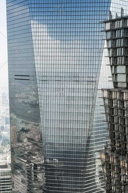 October 20, 2013: Shanghai World Financial Center, SWFC, Lujiazui financial district, Pudong, Shanghai, China