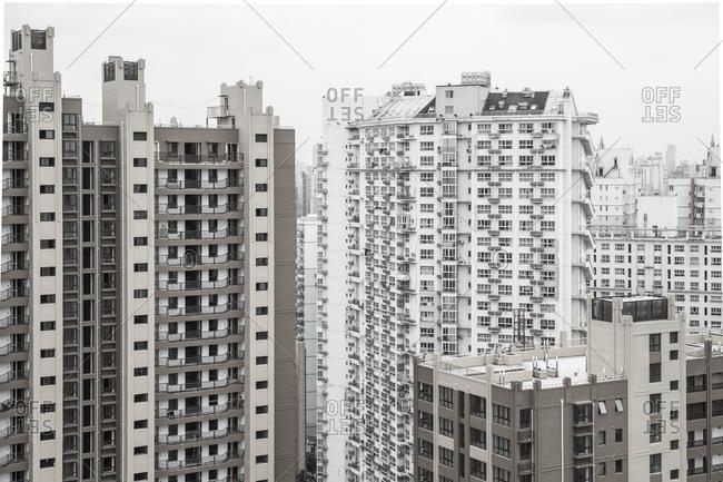 Residential buildings in Nanshi, Shanghai, China