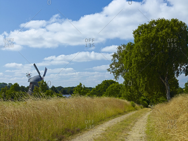 Windmill Marie at Sterley-Kogel, Duchy of Lauenburg, Schleswig-Holstein, Germany