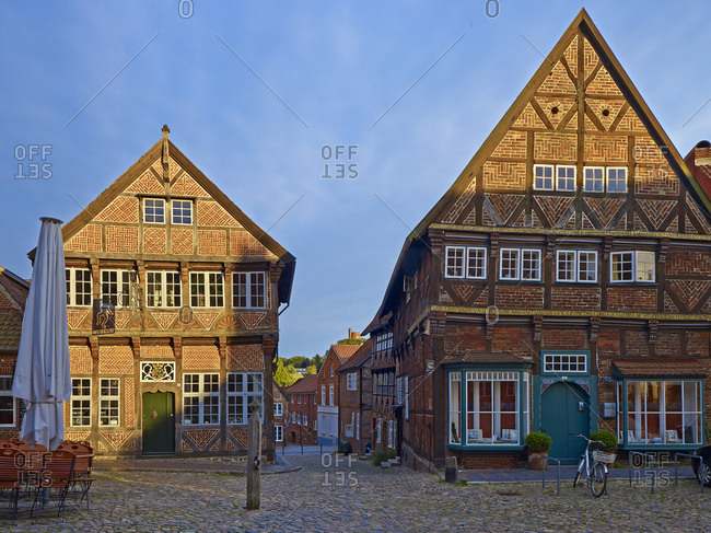 January 1, 1970: Eulenspiegel museum at marketplace in Mlln, Duchy of Lauenburg, Schleswig-Holstein, Germany