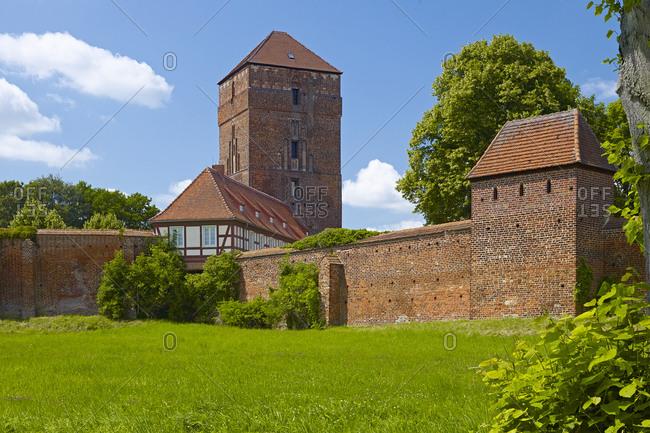 Bishop's Castle and city walls, Wittstock, Brandenburg, Germany