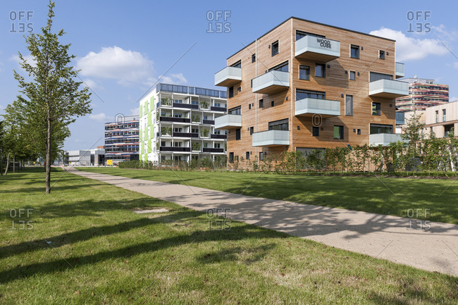 July 12, 2013: Woodcube, IBA, International Building Exhibition, Wilhelmsburg, Hamburg, Germany