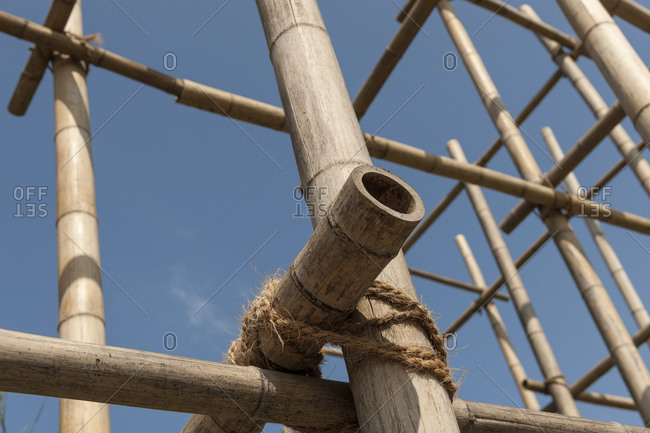 Bamboo scaffolding, Hamburg, Germany
