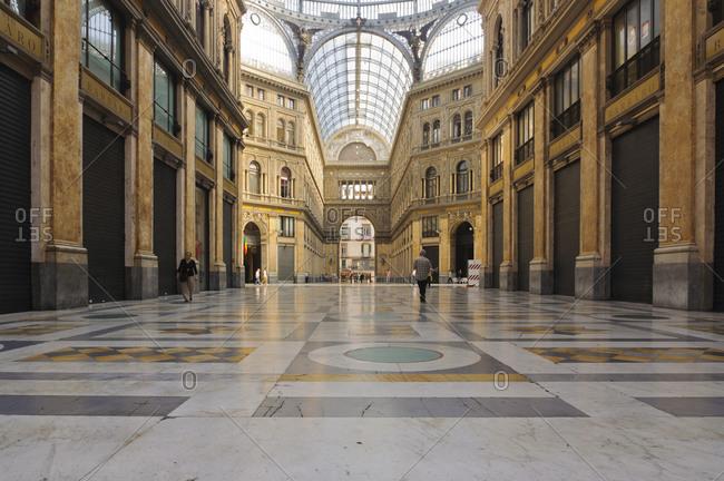 July 2, 2013: Galleria Umberto I, Naples, Campania, Italy