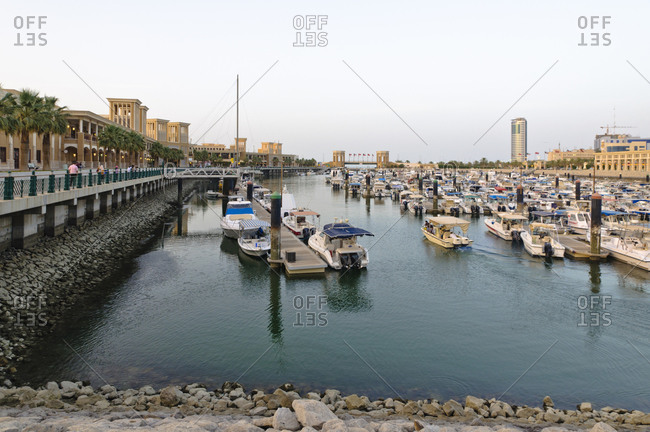 June 6, 2013: Sultan Mall with marina, Kuwait, Arabian peninsula, Western Asia