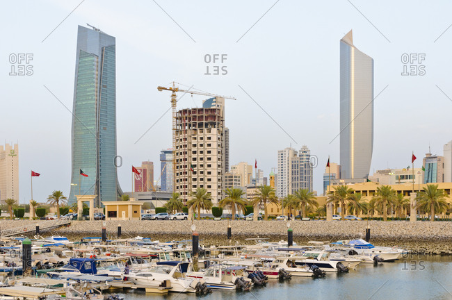 June 6, 2013: Sultan shopping center with marina, Kuwait, Arabian Peninsula, West Asia