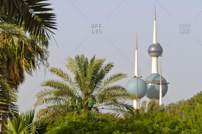 June 6, 2013: Kuwait Towers, Kuwait City, Arabian Peninsula, Western Asia