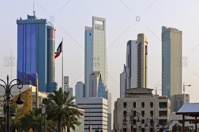June 6, 2013: Kuwait skyline, Arabian Peninsula, West Asia