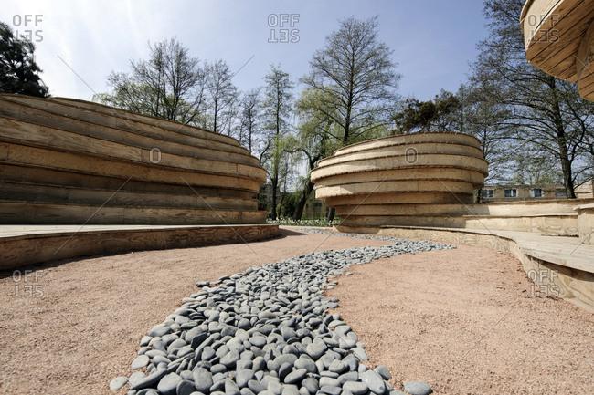 May 3, 2013: Plywood sculptures, IGS, International Garden Show, Wilhelmsburg, Hamburg, Germany