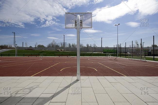 April 29, 2013: Basketball court, ParkSport, IGS, International Garden Show, Wilhelmsburg, Hamburg, Germany