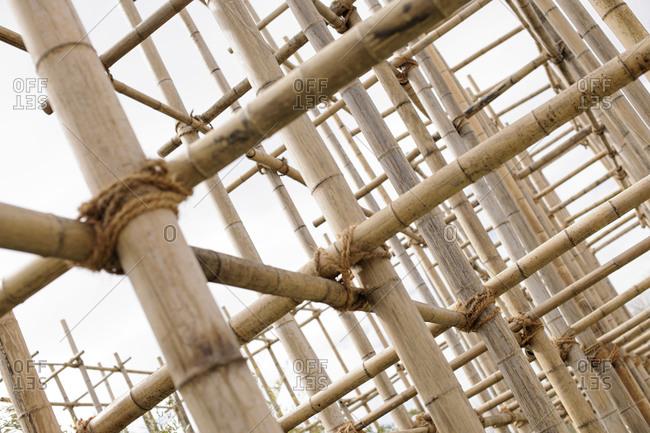 Bamboo Scaffolding, IGS, International Garden Show, Wilhelmsburg, Hamburg, Germany