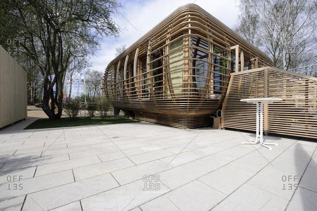 April 29, 2013: House of Landscape, IGS International Garden Show, Wilhelmsburg, Hamburg, Germany