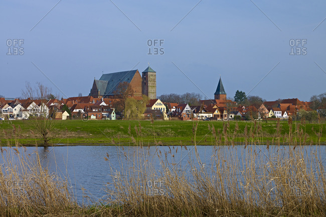 Cityscape with Cathedral of Verden an der Aller, Lower Saxony, Germany