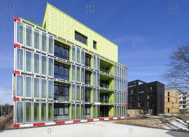 March 23, 2013: BIQ, algae-powered building, IBA, International Building Exhibition, Wilhelmsburg, Hamburg, Germany