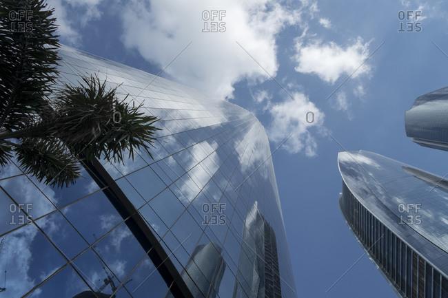 December 13, 2012: Facades of the Etihad Towers, Al Khubeira, Abu Dhabi, UAE