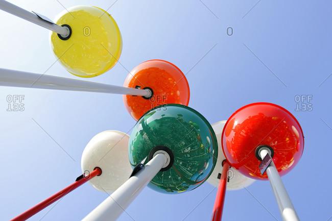 Colorful Berlin, shining balls, Alexanderplatz, Berlin, Germany