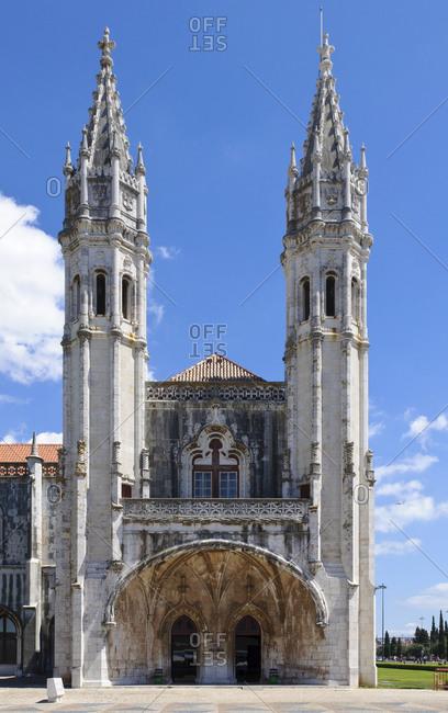 August 25, 2012: Jernimos Monastery, Mosteiro dos Jernimos, Lisbon, Portugal