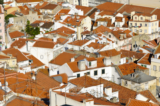 August 24, 2012: Alfama neighborhood in Lisbon, Portugal