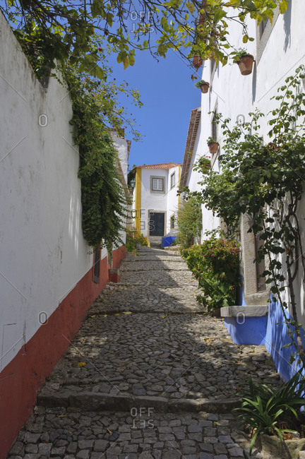 Alley between homes in Portugal