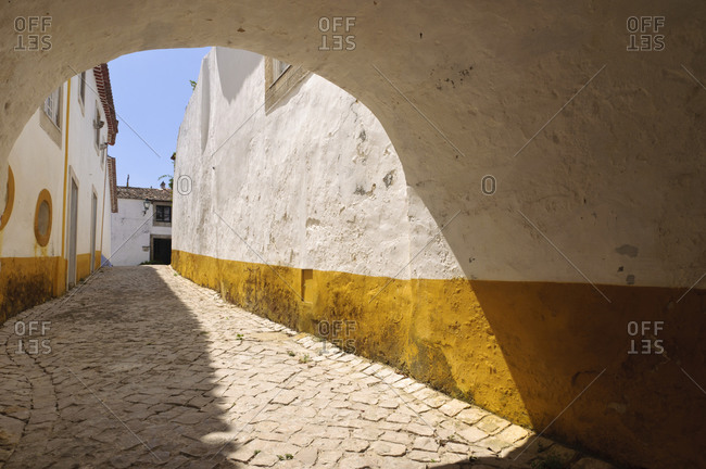 Alley through town in Portugal