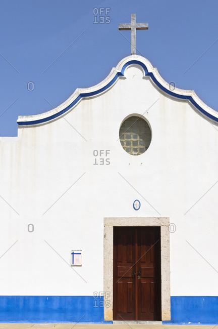 August 20, 2012: Church in Vila Nova de Milfontes, Alentejo, Portugal