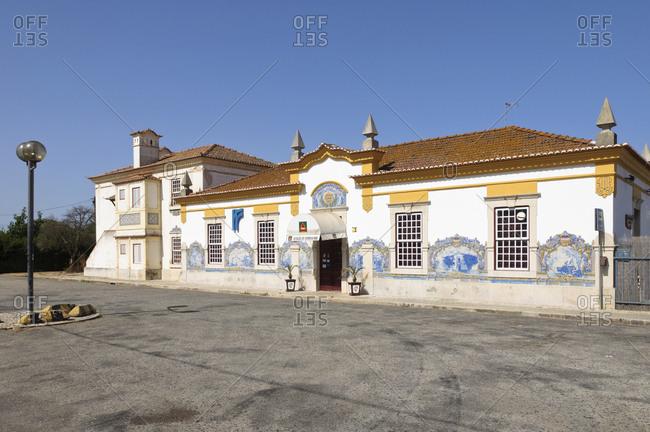 August 21, 2012: Railroad station in Alentejo, Portugal