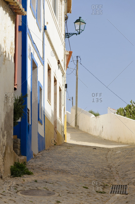 August 20, 2012: Alley in Aljezur, Algarve, Portugal