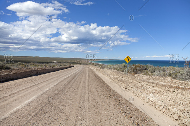 Playa el Doradillo, on the way to the Peninsula Valds, Patagonia, Chubut Province, Argentina, South America