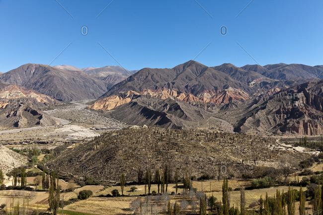 View of Pucara, pre-Inca Hill, in Tilcara, Argentina, South America