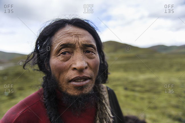 Portrait of Tibetan Man, Tibetan Plateau, Kham and Amdo