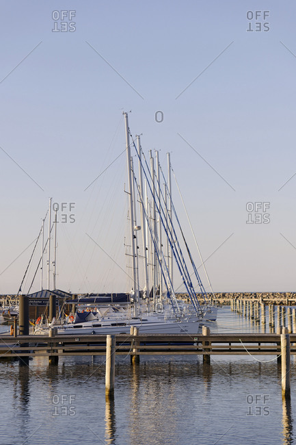 June 17, 2010: Sailing yachts, Marina High Dune, Baltic Sea, Rostock Warnemnde, Mecklenburg-Vorpommern, Germany