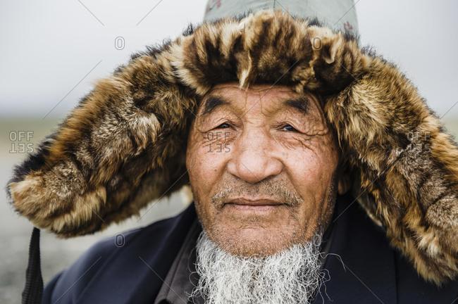 Mongolian man of the Meng ethnic minority, Xinjiang. China