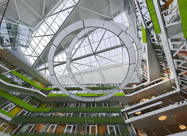 March 22, 2010: Interior of Unilever German headquarters, Hamburg, Germany