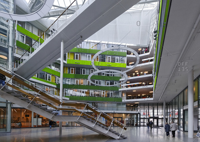 March 22, 2010: Entrance area of Unilever German headquarters, Hamburg, Germany