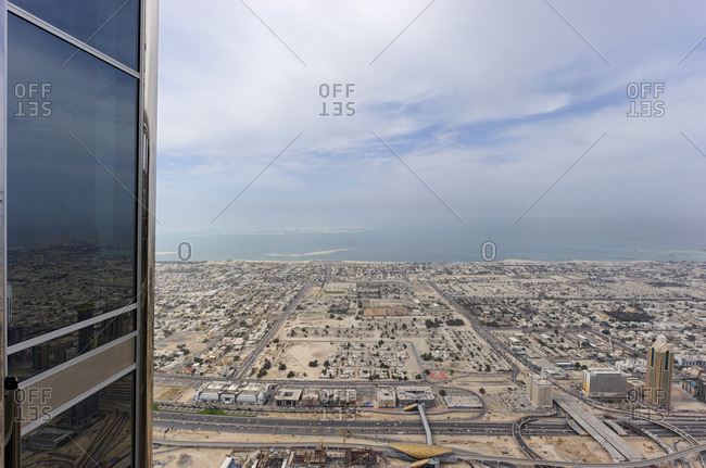 February 2, 2010: Breathtaking view of Dubai's Sheik Zayed Roar, downtown Dubai, United Arab Emirates, Middle East