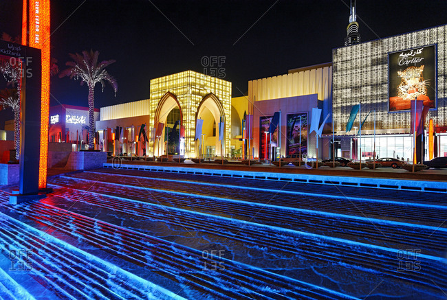 January 30, 2010: Main entrance of Dubai Mall, Downtown Dubai, Dubai, United Arab Emirates, Middle East