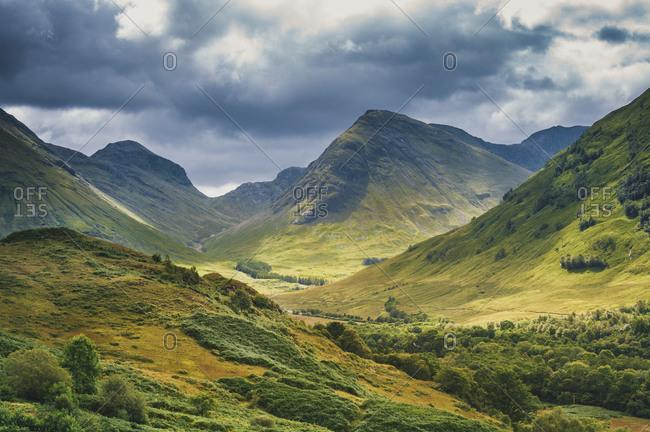 Glencoe (Gleann Comhann), Glen Coe, Loch Leven, Highlands, Scotland