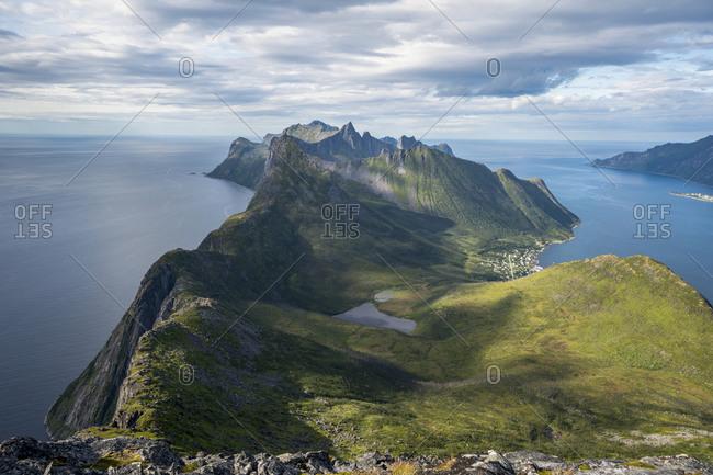 View of mountains of Senja, Norway