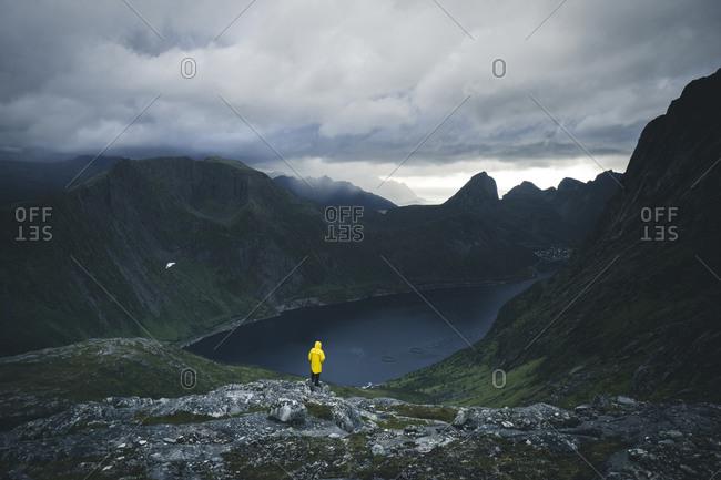 Midsummer hike through the mountains of Senja, Norway