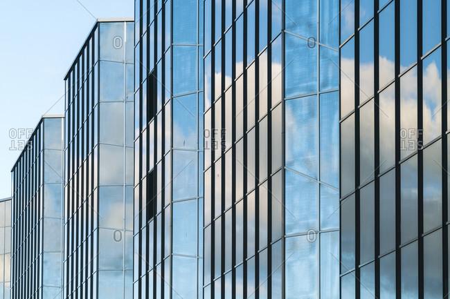 Estonia, Harju County, Tallinn - October 21, 2017: Marine Keskus Hotel, glass facade modern hotel by old city harbor