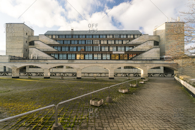 Estonia, Harju County, Tallinn - October 22, 2017: National Library of Estonia brutalist building