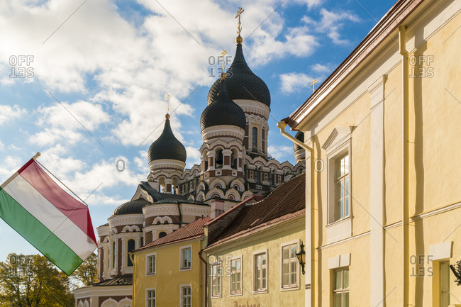 Alexander Nevsky Cathedral, Russian church in the old town Tallinn