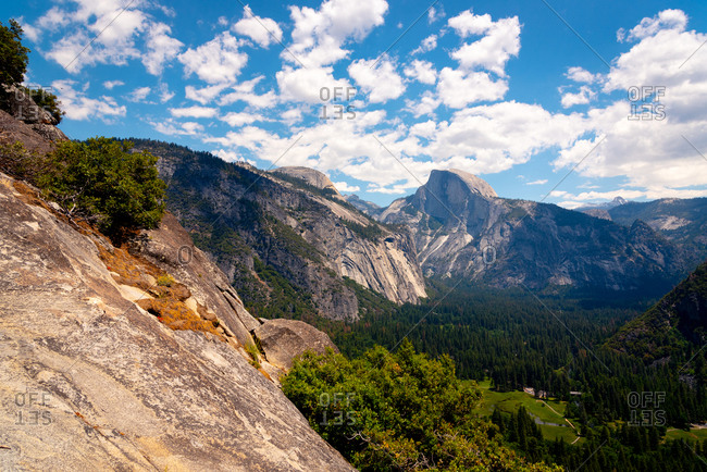 Half Dome stands tall over Yosemite Valley
